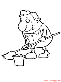 Cleaner image - work coloring pages