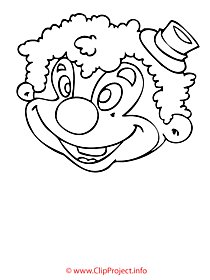 Clown coloring free