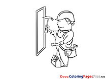 Constructor Colouring Page printable free
