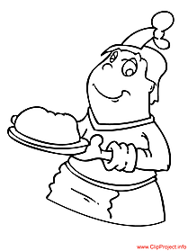 Cook colouring page for free