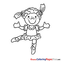 Dancer for Children free Coloring Pages