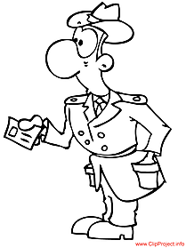 Detective coloring - work coloring pages