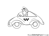 Driver for Children free Coloring Pages