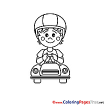Driver Kids download Coloring Pages