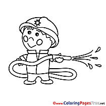 Firefighter for free Coloring Pages download
