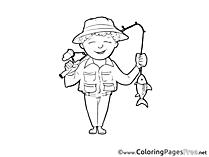 Fisher for Kids Invitation Colouring Page