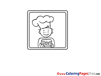Free printable Cook Coloring Sheets