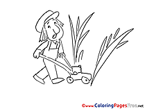 Gardener printable Coloring Sheets download