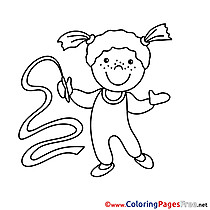 Gymnast printable Coloring Pages for free