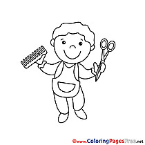 Hairdresser for free Coloring Pages download
