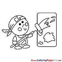 Kids download Coloring Pages Painter
