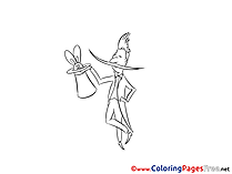 Magician Kids Invitation Coloring Pages