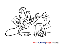 Musician Coloring Sheets Invitation free