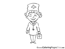 Nurse printable Coloring Pages for free
