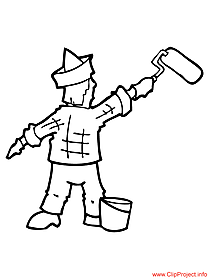 Painter image - coloring pages of work