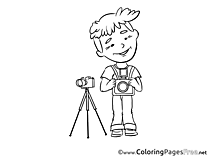 Photographer free Invitation Coloring Sheets