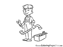 Plumber Coloring Sheets Invitation free