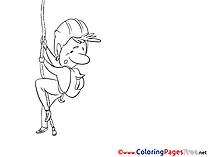 Rescuer free Colouring Page Invitation
