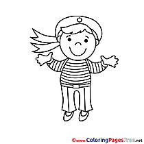 Sailor for Children free Coloring Pages