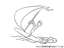 Windsurfer Coloring Pages for free