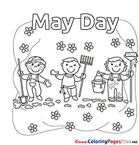 Job Workers Day Coloring Pages free