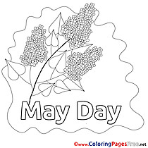Lily Workers Day free Coloring Pages
