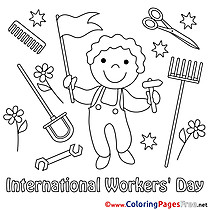 Man Workers Day Coloring Pages download