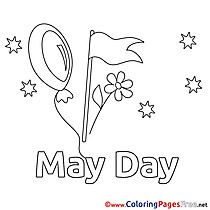 May Day free Colouring Page Workers Day