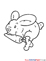 Bunny Carrot download printable Coloring Pages
