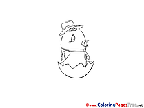 Chicken Coloring Sheets download free
