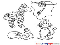Colouring Sheet download free Animals