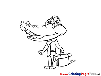 Crocodile Coloring Pages for free