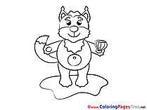 Fox for free Coloring Pages download