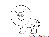 Free Coloring Pages for Children Lion