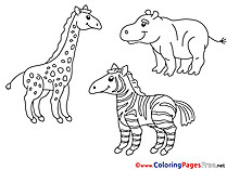 free Zoo Coloring Page for Kids