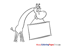 Giraffe Coloring Sheets download free
