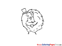 Hedgehog download Colouring Page for Children