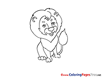 Lion free Coloring Pages for Children