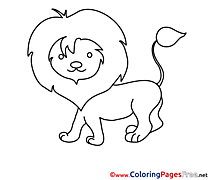 Lion printable Coloring Sheets download