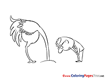 Ostrich printable Coloring Pages for free