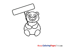 Panda printable Coloring Sheets download