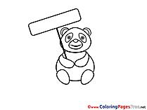 Panda printable Coloring Sheets download