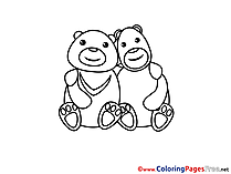 Pandas Coloring Pages free for Children