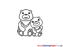 Pandas free Colouring Page download