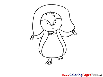 Penguin jumps  download Coloring Pages for Kids