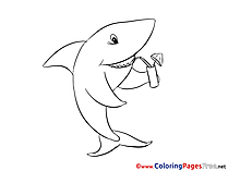 Shark Colouring Sheet download free