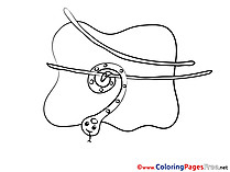 Snake free Coloring Pages for Children