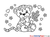 Tiger Colouring Sheet download free