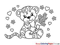 Tiger Colouring Sheet download free