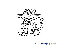 Tiger printable Coloring Pages for free